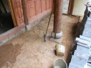 Corridor prepared for new brick