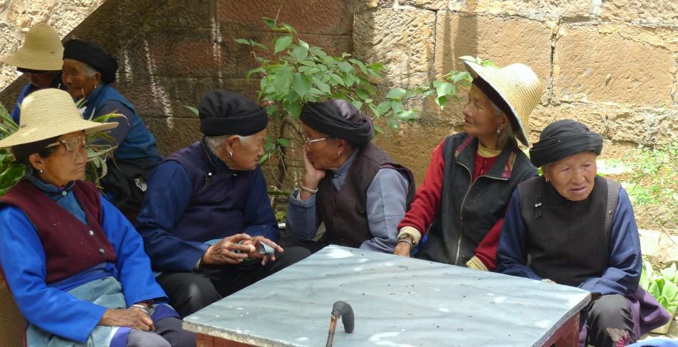 Catching up on village gossip