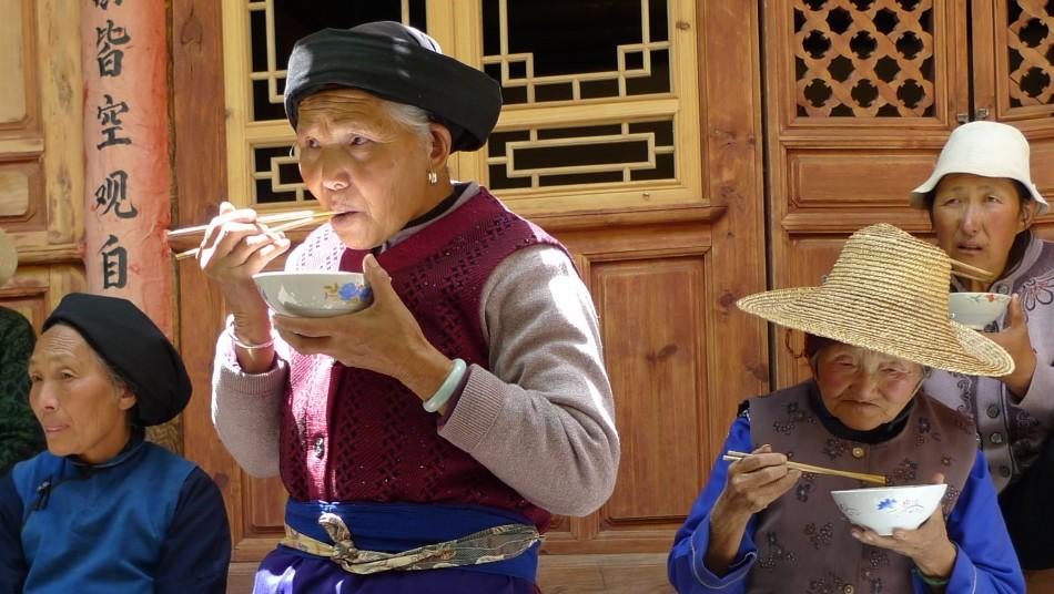 A late breakfast of rice porridge