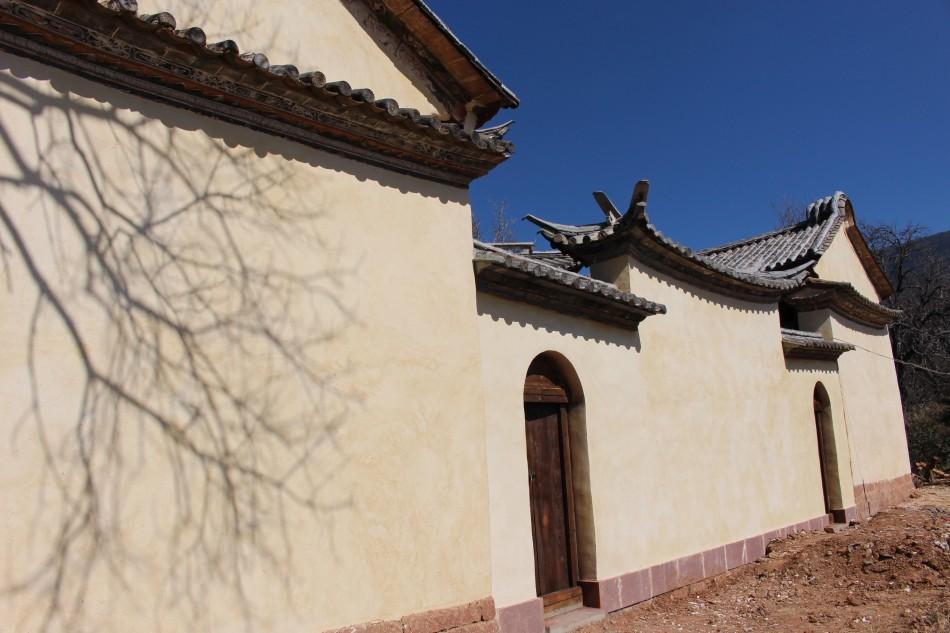Jade Emperor front wall after rebuild