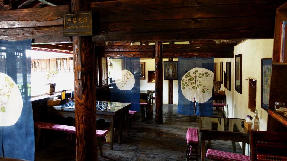 Shaxi Pear Blossom Restaurant November 2014 - Shaxi temple restoration