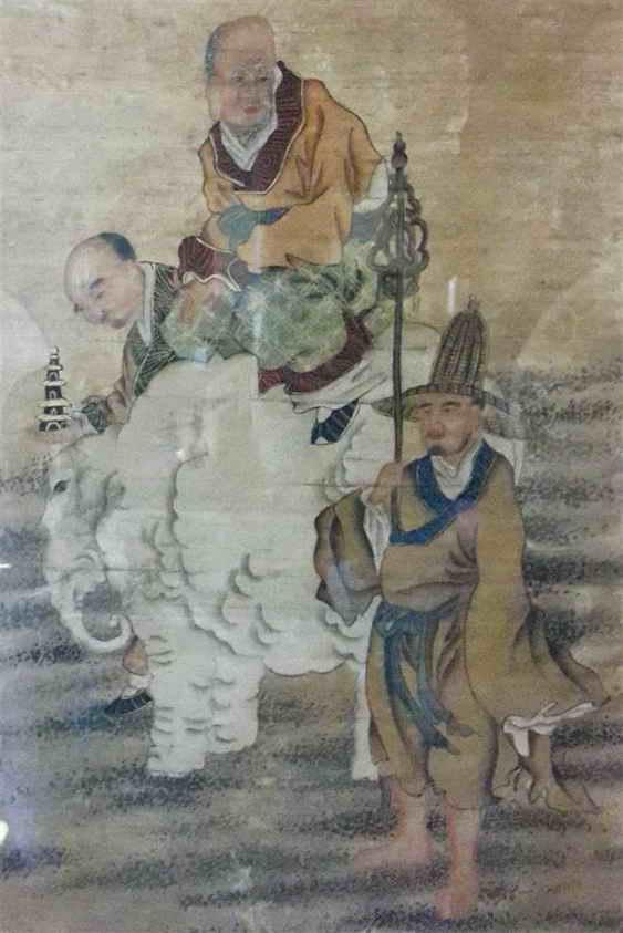 immortals painting - shaxi china pear orchard temple pear blossom organic restaurant dali yunnan food