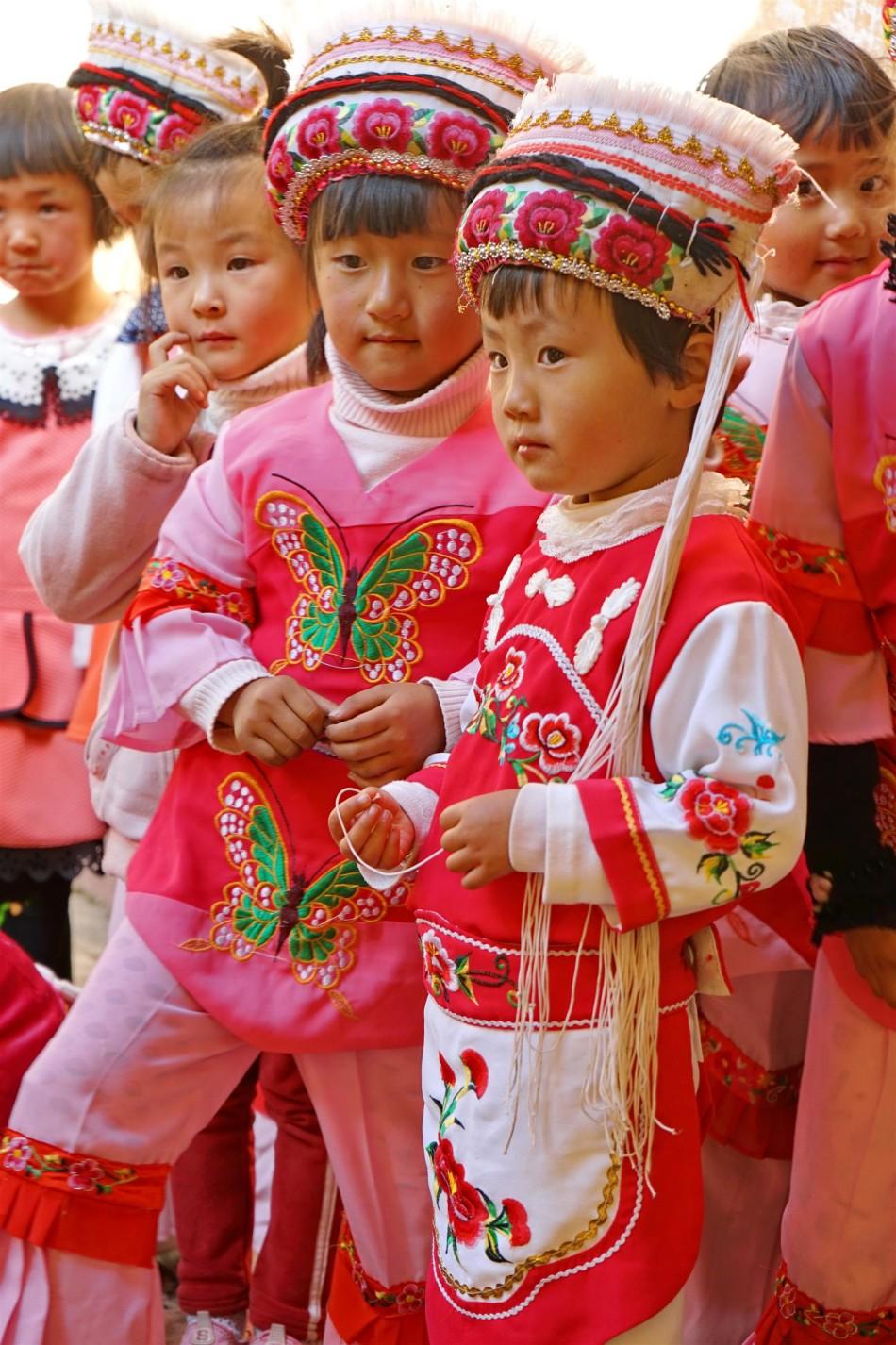 Diantou Village girl's dance troupe - Shaxi Yunnan China